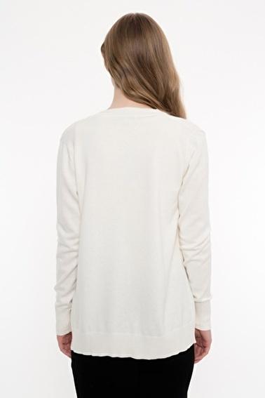 Silk and Cashmere Hırka Beyaz